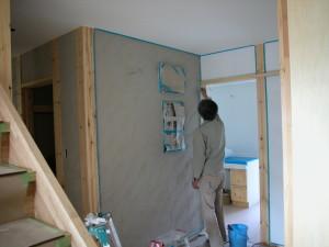 お客様自身で塗り壁